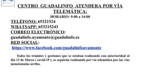 INFORMACIÓN SOBRE EL CENTRO GUADALINFO