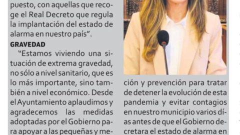 """ENTREVISTA DE LA ALCALDESA DE AYAMONTE EN EL ESPECIAL CORONAVIRUS DE """"ONUBA ACTUAL"""""""
